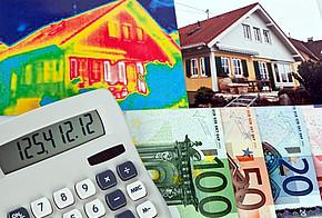 Thermografie, Taschenrechner und Geldscheine